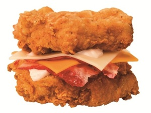 double down bacon and chicken